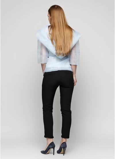 Черные летние зауженные брюки LCK